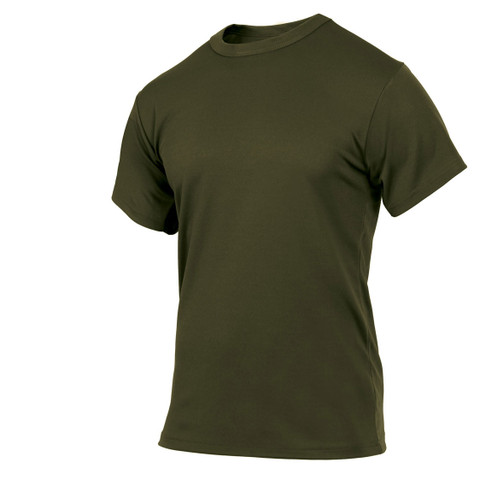 Olive Drab Quick Dry Wicking T Shirt - View