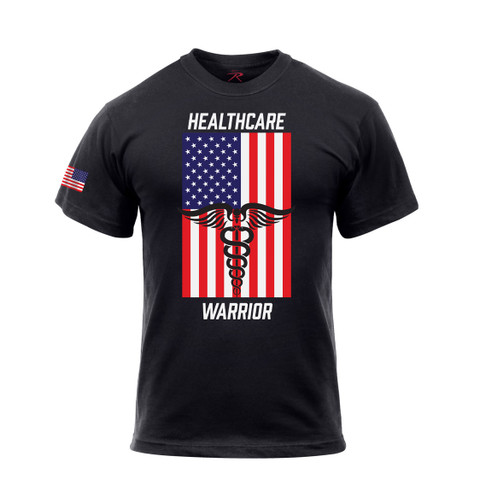 Health Care Warrior US Flag T Shirt - View