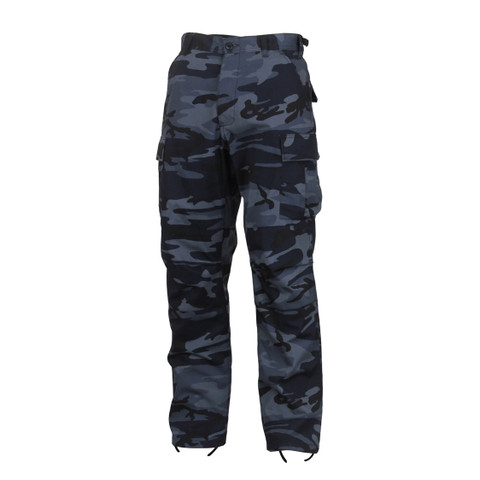 Midnight Blue Camo BDU Fatigues Pants - View