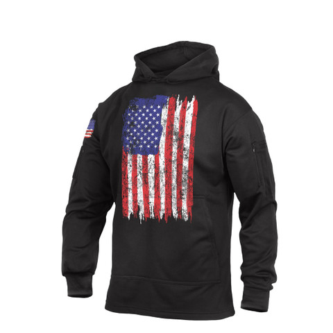 U.S.Flag Concealed Carry Hoodie Sweatshirt - Front View