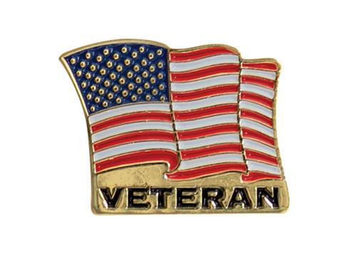 Veteran U.S.Flag Pin - View