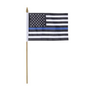 Thin Blue Line Stick Flag - View