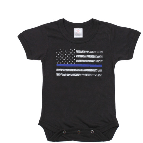 Infants Thin Blue Line One Piece Bodysuit - View