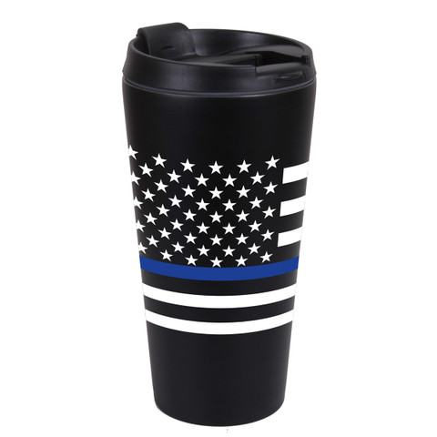 Thin Blue Line Flag Travel Mug - View