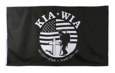 KIA-WIA Military Flags - View