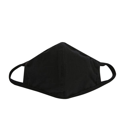 Reusable 3 -Layer Black Face Mask - Front View