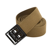 Coyote Brown Web Belts w/Black Open Face Buckle - View