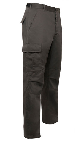 Charcoal Grey Tactical BDU Fatigue Pants -View