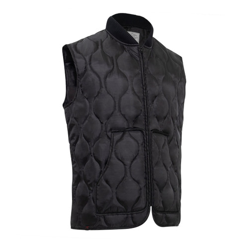 Tactical Black Quilted Woobie Vest - View