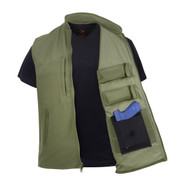 Concealed Carry Soft Shell Vest - Open View