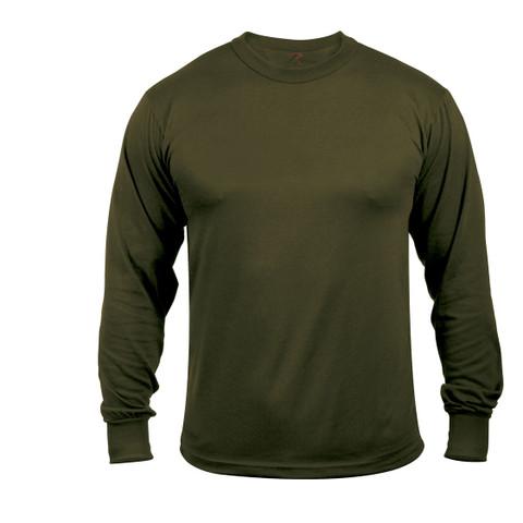 Moisture Wicking Long Sleeve T Shirts-Olive Drab