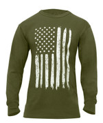 US Flag Long Sleeve T Shirt - View