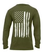 US Flag Long Sleeve T Shirt - View