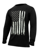 US Flag Long Sleeve T Shirt - Side View