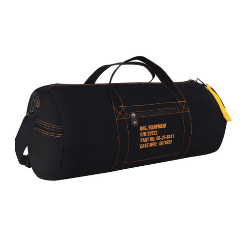 Black Canvas Equipment Gear Bag - View