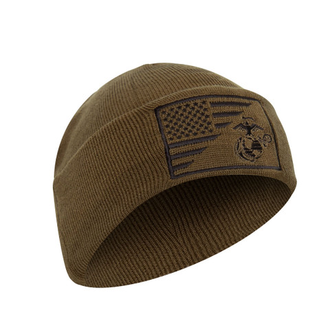 Deluxe USMC Globe Anchor Flag Watch Cap - View