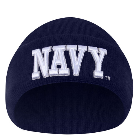 Deluxe Embroidered NAVY Watch Cap - View