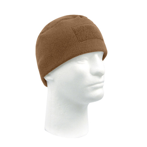 Tactical Polar Fleece Watch Cap - Coyote Brown -VIew