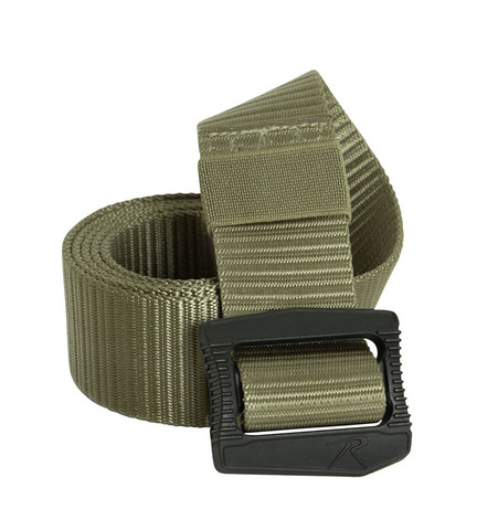 Deluxe Coyote BDU Belt w/Security Friendly Buckle - Fold View