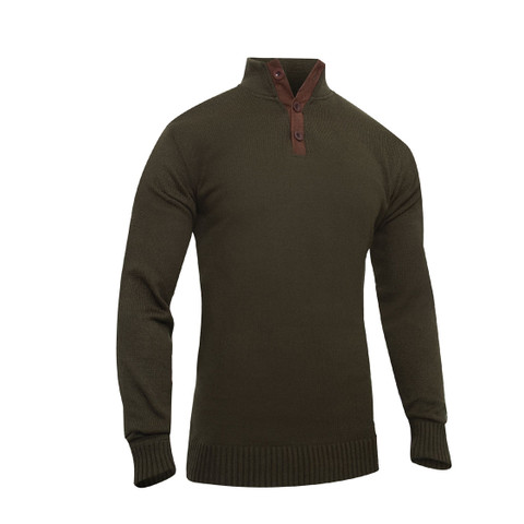 Classic Military Fatigue Field Sweater - Front View