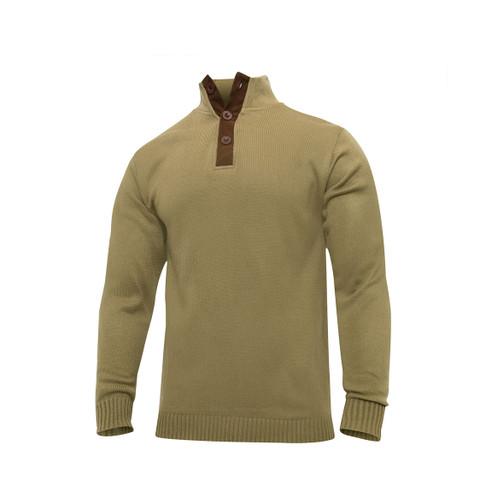 Classic Military Fatigue Field Sweater - View