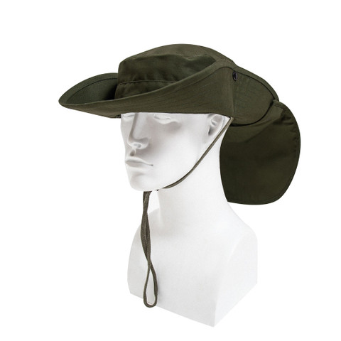 Outback Adjustable Boonie Sun Hat - Sun Flap Side View