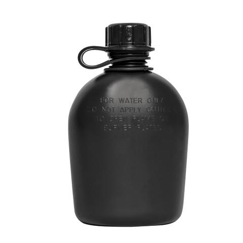 Genuine G.I. 3PC 1 Qt Black Drab Plastic Canteen - View