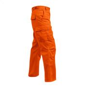 Rothco Blaze Orange BDU Fatigue Pants - Right Side View