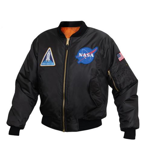 Rothco NASA MA-1 Flight Jacket - Side View