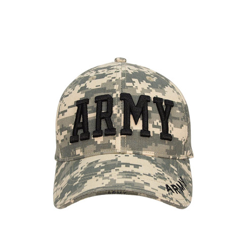Deluxe ACU Digital Army Caps - Front View