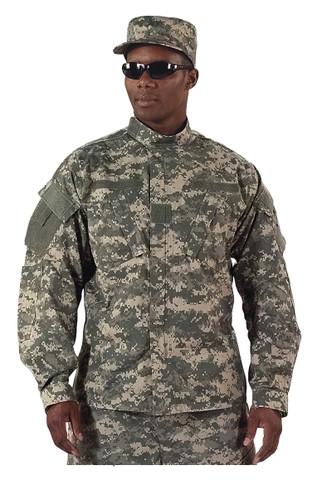 ACU Digital Camo Uniform Shirt - Model View