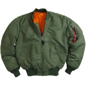 Alpha Sage Green MA-1 Flight Jacket