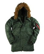 Alpha Sage Green N3B Parka - View