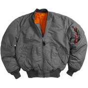 Alpha MA-1 Flight Jackets - Gun Metal Grey