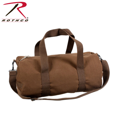 Brown Canvas Travel Shoulder Bag - Rothco View