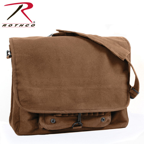 Vintage Brown Canvas Paratrooper Bag - Rothco View