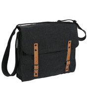 Vintage Black Canvas Medic Bag - View