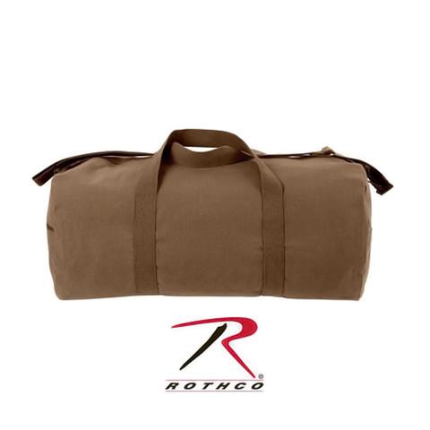 Earth Brown Canvas Travel Shoulder Bag - Rothco View