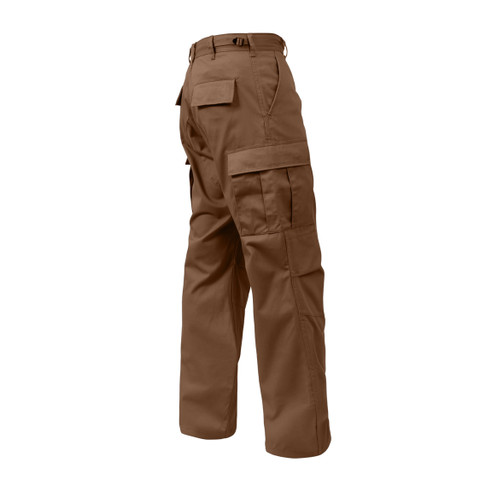 Brown BDU Fatigue Pants - Side View