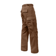 Brown BDU Fatigue Pants - Side View