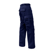 Midnight Blue Zipper Fly BDU Uniform Pants - Right Side View