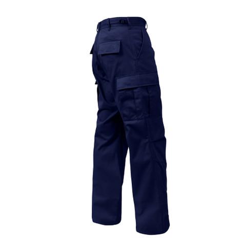 Midnight Blue Zipper Fly BDU Uniform Pants - Right Side View