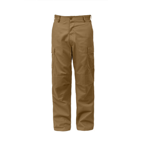 Coyote Brown BDU Fatigue Pants - Front Side View