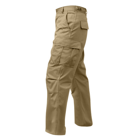 Rothco Khaki BDU Fatigue Pants - Left Side View