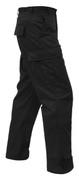 Rothco Black BDU Fatigue Pants - Side View