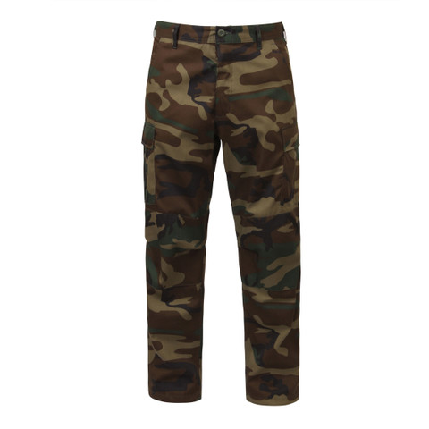 Woodland Camo BDU Fatigue Pants -  Front View