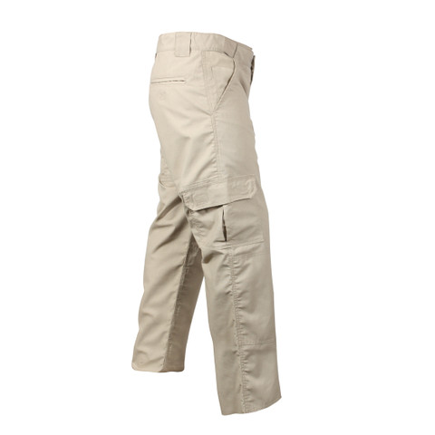Rothco Khaki Rip Stop Tactical Duty Pants  - Right Side View
