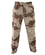 Six Color Desert Camo BDU Fatigue Pants - Front View