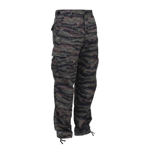 Tiger Stripe Camo BDU Fatigue Pants - Front View