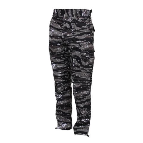 Urban Tiger Stripe Camo BDU Fatigue Pants - Front View